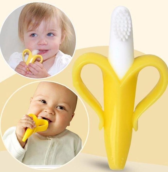 brosse dent banane pour b b le monde de b b. Black Bedroom Furniture Sets. Home Design Ideas